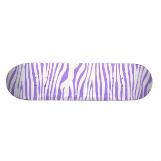 Purple Zebra stripe pattern Skateboard Deck