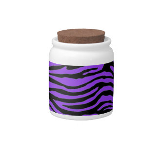 purple zebra stripes candy jars