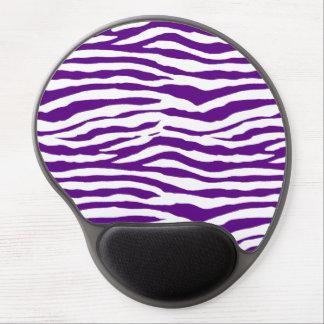 Purple Zebra Stripes Gel Mouse Pad