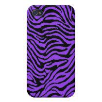 purple zebra stripes Iphone Case