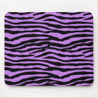 Purple Zebra Stripes Mouse Pad