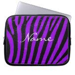 Purple zebra stripes Neoprene Laptop Sleeve