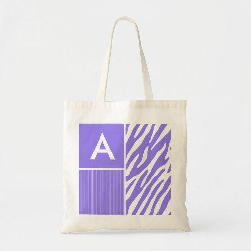 Purple Zebra Stripes; Stripe Canvas Bag