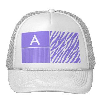 Purple Zebra Stripes; Stripe Trucker Hats