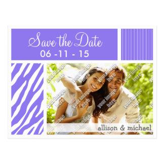 Purple Zebra Stripes; Stripe Postcard