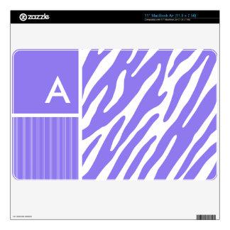 "Purple Zebra Stripes Stripe Skins For 11"" MacBook Air"