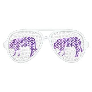 Purple Zebra Takes A Bow Aviator Sunglasses
