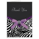 Purple Zebra Thank You Cards