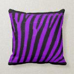 Purple Zebra Throw Pillows