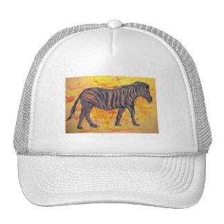 purple zebra trucker hat