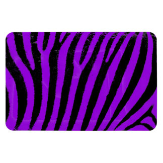 Purple Zebra Vinyl Magnets