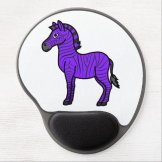 Purple Zebra with Black Stripes Gel Mouse Pad