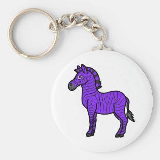 Purple Zebra with Black Stripes Keychain