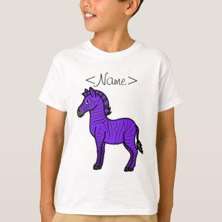 Purple Zebra with Black Stripes T-Shirt