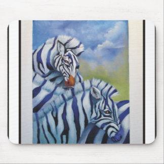 purple zebras mouse mats