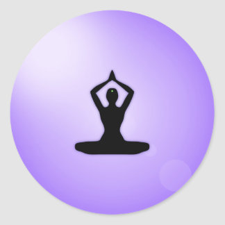 Purple Zen Meditation Classic Round Sticker