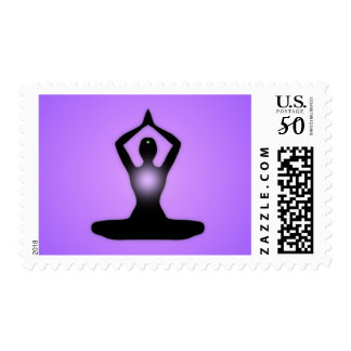 Purple Zen Meditation Sunburst Postage