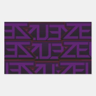 purple zeus design rectangular sticker
