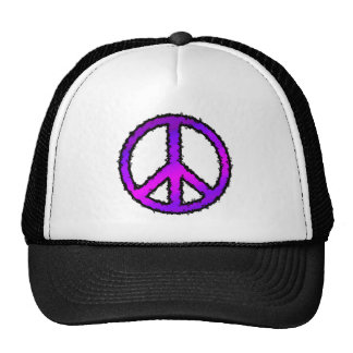 Purple Zig Zag Peace Sign Trucker Hat