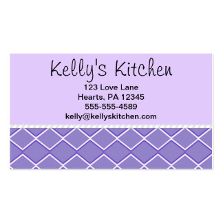 Purple Zigzag Double-Sided Standard Business Cards (Pack Of 100)