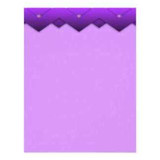Purple Zigzag Design Letterhead