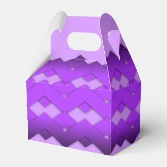 Purple Zigzag Design Party Favor Boxes