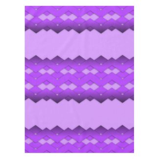 Purple Zigzag Design Tablecloth