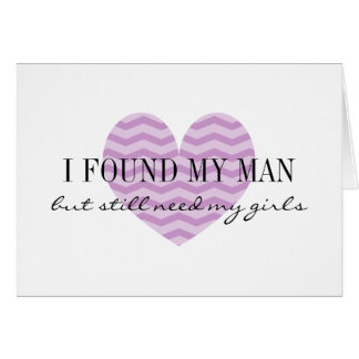 Purple zigzag heart Will you be my bridesmaid card