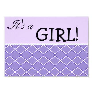 Purple Zigzag 5x7 Paper Invitation Card