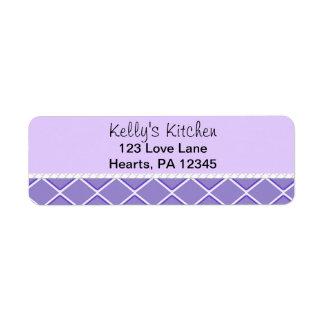 Purple Zigzag Label