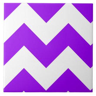 Purple Zigzag Pattern Ceramic Tile