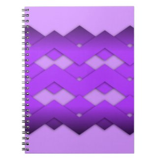 Purple Zigzag Spiral Note Books