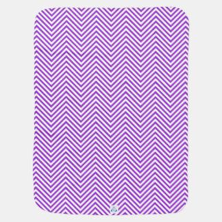 Purple Zigzags in 2-Tone Reversible - Baby Blanket