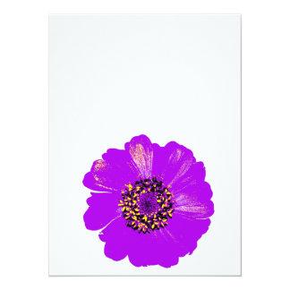Purple Zinnia Flower Card