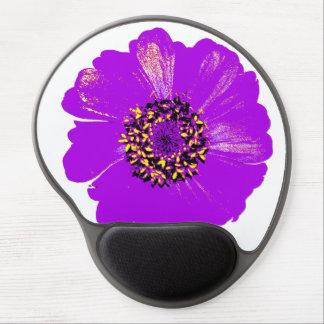 Purple Zinnia Flower Gel Mouse Pad