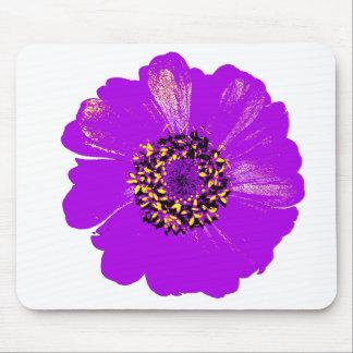 Purple Zinnia Flower Mouse Pad