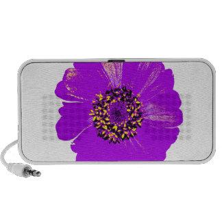 Purple Zinnia Flower iPod Speaker