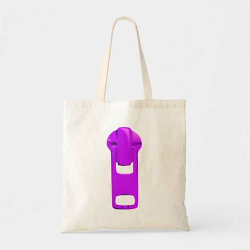 Purple Zipper Tote Bags
