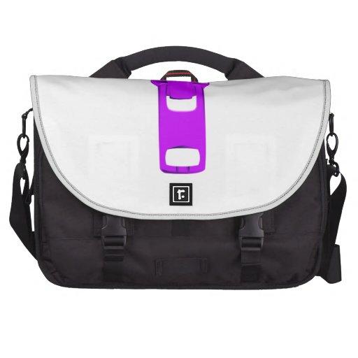Purple Zipper Laptop Messenger Bag