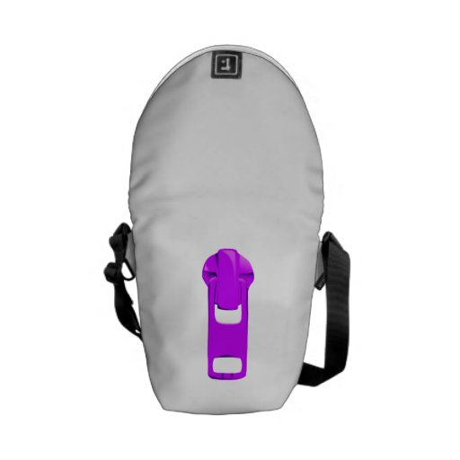 Purple Zipper Messenger Bag