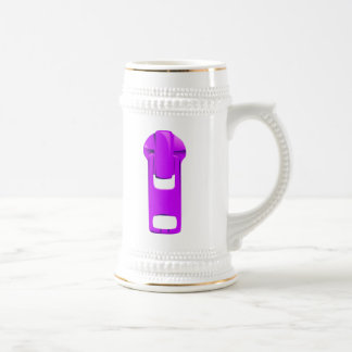 Purple Zipper 18 Oz Beer Stein