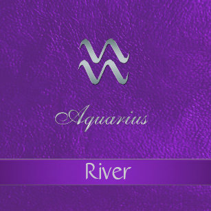 Purple Zodiac Sign Aquarius Gift Box