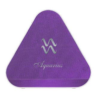 Purple Zodiac Sign Aquarius Speaker