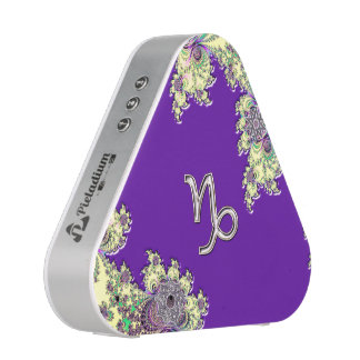 Purple Zodiac Sign Capricorn Fractal Design Bluetooth Speaker