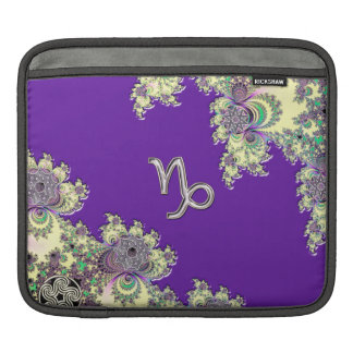 Purple Zodiac Sign Capricorn Fractal Design Sleeve For iPads