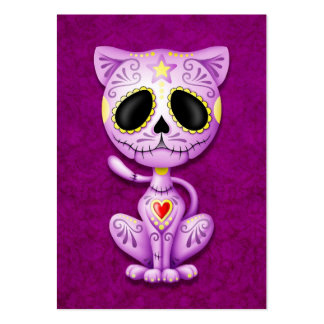 Purple Zombie Sugar Kitten Large Business Cards (Pack Of 100)