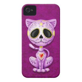 Purple Zombie Sugar Kitten Case-Mate iPhone 4 Case