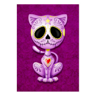 Purple Zombie Sugar Kitten Cat Large Business Cards (Pack Of 100)