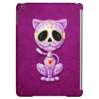 Purple Zombie Sugar Kitten Cat iPad Air Cases