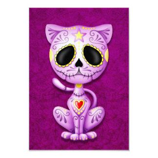 Purple Zombie Sugar Kitten Personalized Announcement
